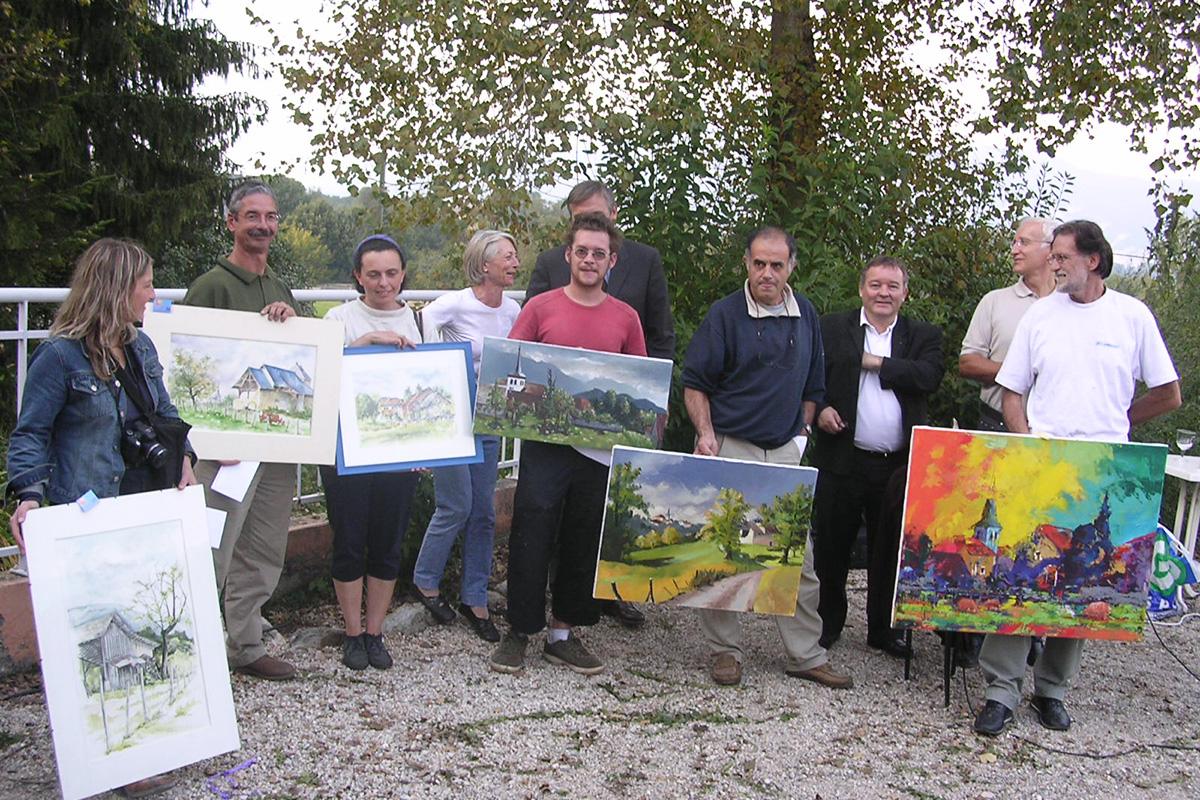 L'exposition annuelle de peinture « le Jardin des Toiles »