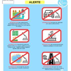 Sécheresse : Limitations des usages de l'eau